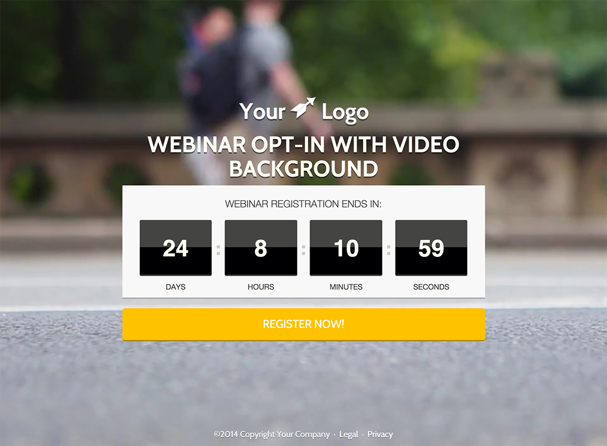 Module 13: Landing Pages - BACKGROUND